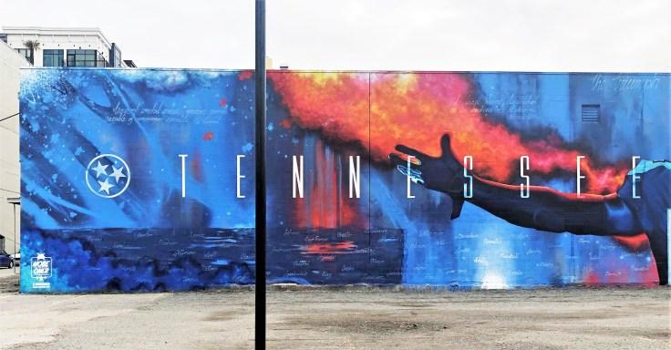 Titans Mural Nashville street art