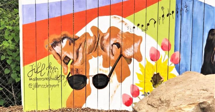 Dog Mural Nashville Street art