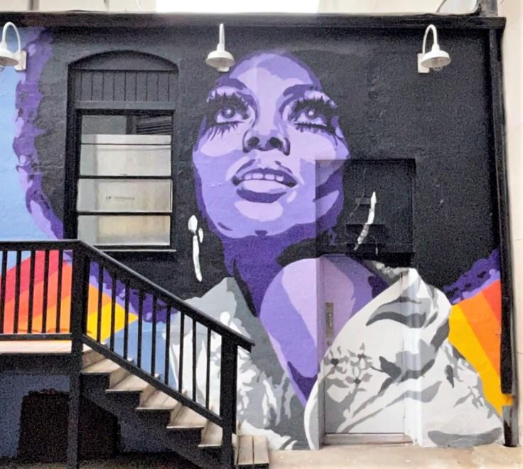 Ross Portrait mural Nashville street art
