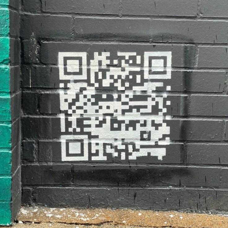 QR Code Nashville street art