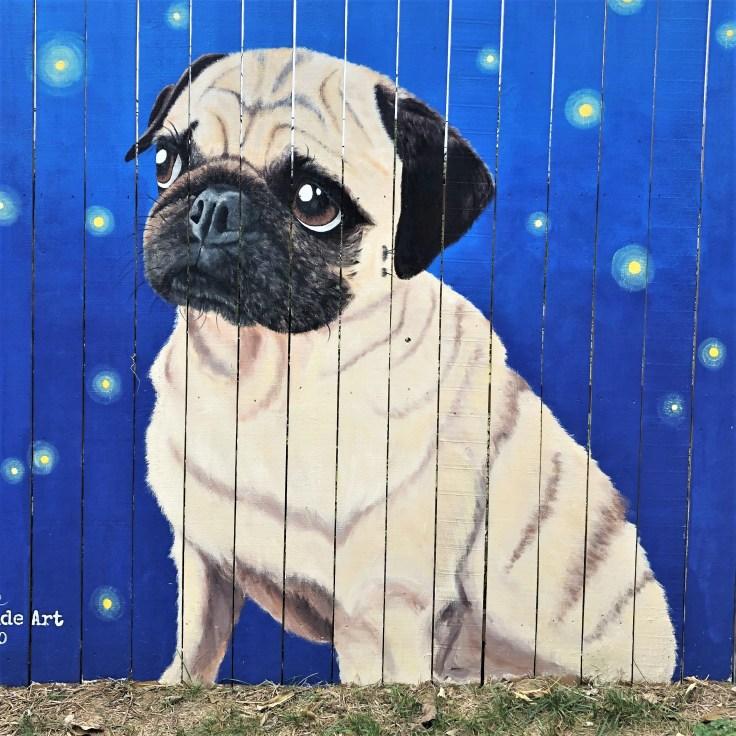 Pug Mural Nashville street art