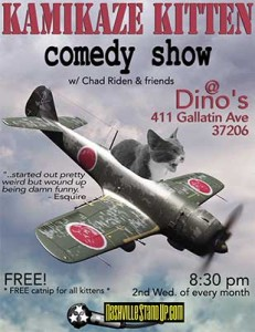 KAMIKAZE KITTEN comedy show w/ Chad Riden & friends