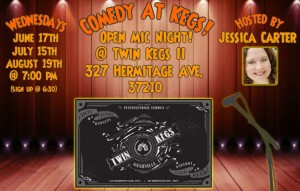 Twin Kegs Open Mic - 3rd Wed of every month