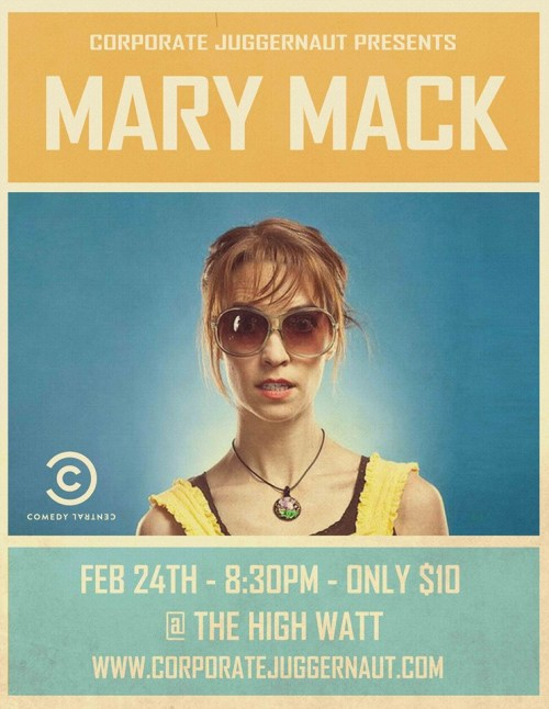 mary mack at the high watt 2/24/2014
