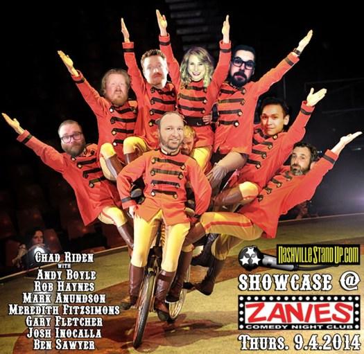 The NashvilleStandUp.com Showcase at Zanies Nashville Sept. 4, 2014