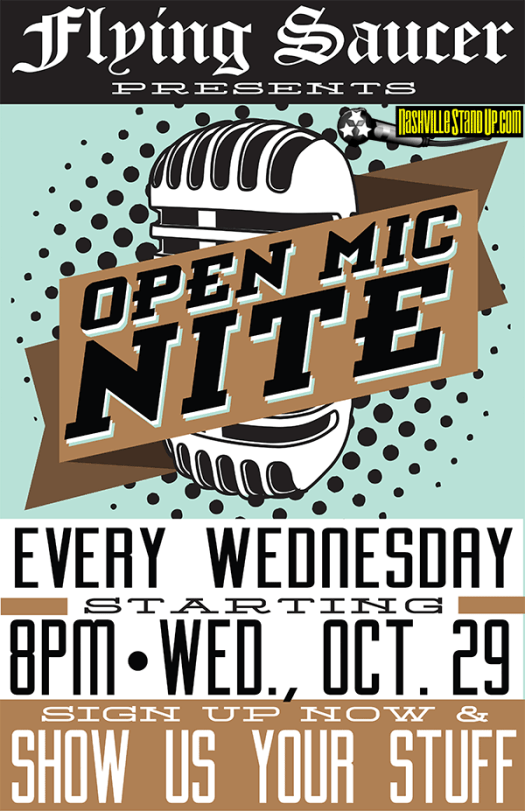Flying Saucer open mic nite - every Wednesday