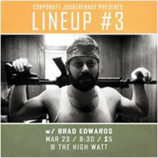 Brad Edwards at Lineup #3 comedy special taping at The High Watt - March 23, 2015