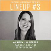 Mary Jay Berger at Lineup #3 comedy special taping at The High Watt - March 23, 2015