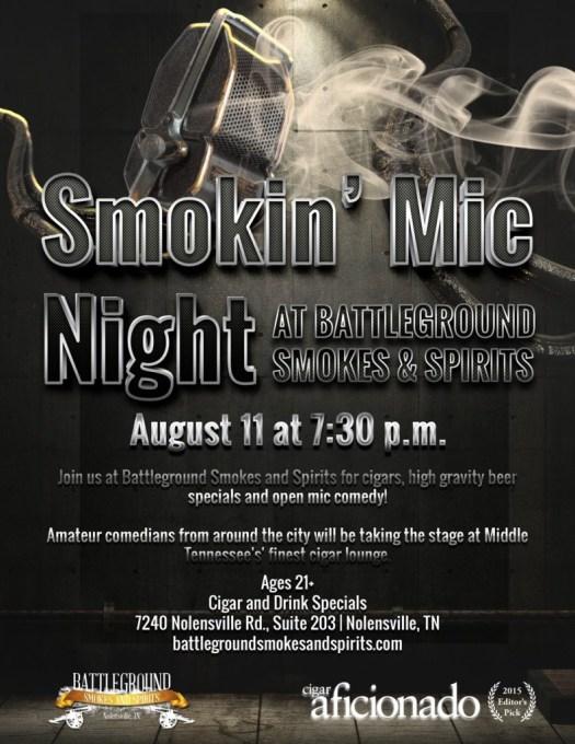 Smoking' Mic Night - open mic comedy show at Battleground Smokes & Spirits in Nolensville