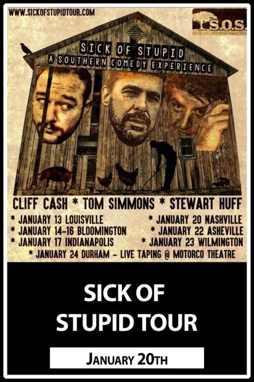 Sick of Stupid Tour at Zanies 1/20/2016