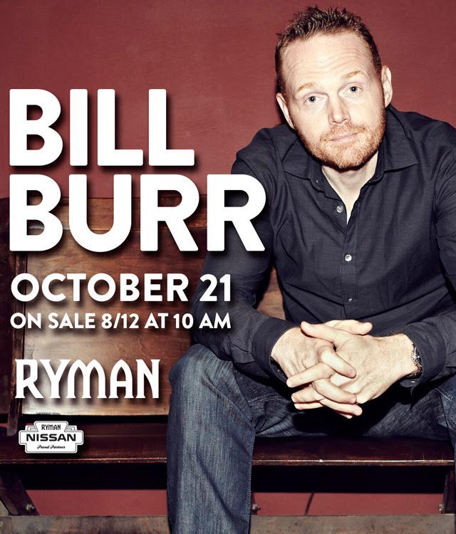 Bill Burr at Ryman Auditorium 10/21/2016