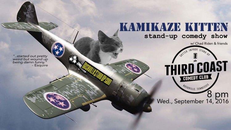 Kamikaze Kitten comedy show presents RYAN SINGER w/ Mac Blake, Danny Palumbo, Aaron Brooks, Chad Riden plus a few bucket spots at Third Coast Comedy Club 8pm Wednesday 9/14/2016. $10.