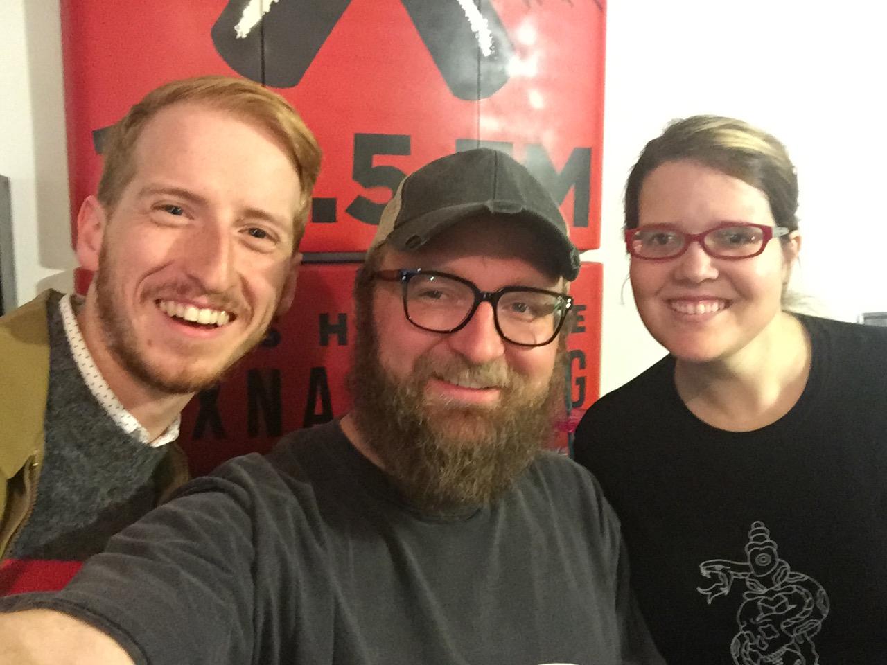 James Austin Johnson, Chad Riden, Mary Jay Berger at WXNA 11/23/2016