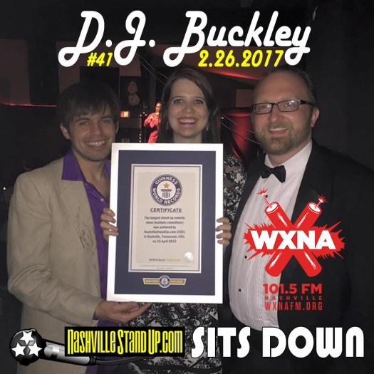 2/26/2017 Nashville StandUp  Sits DOWN on WXNA: DJ Buckley, Mary Jay Berger, Chad Riden at #BrokenRecordShow 4/15/2015