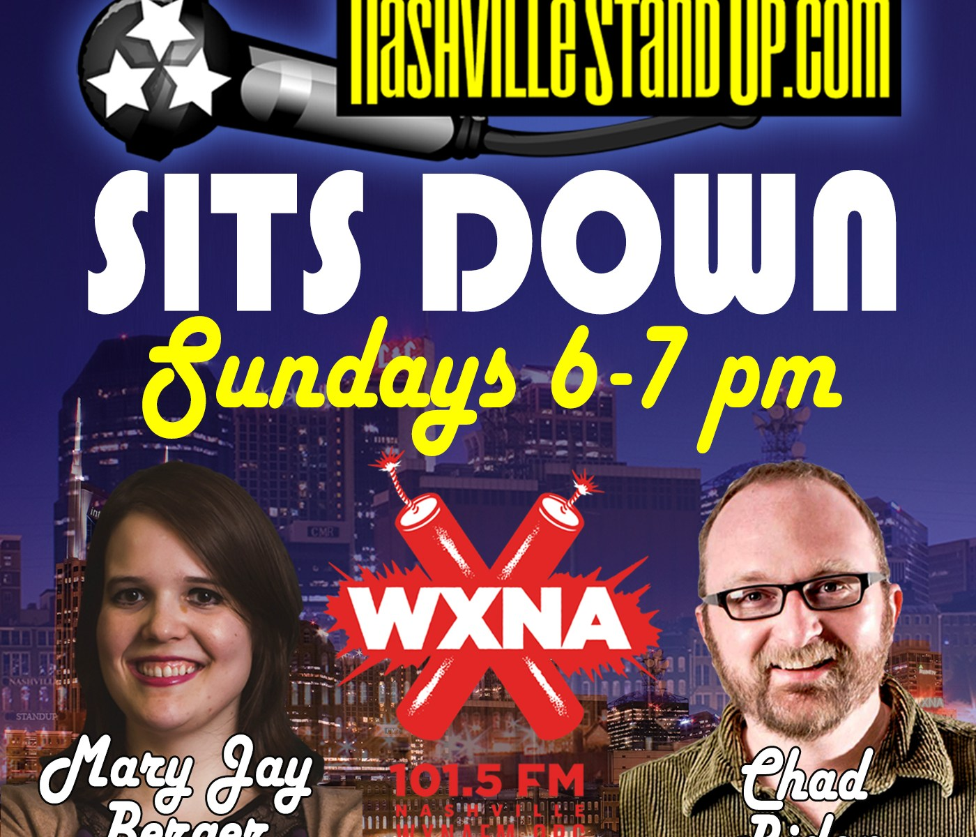 NSUPsitsDOWN sundays 6-7pm on WXNA 101.5 fm