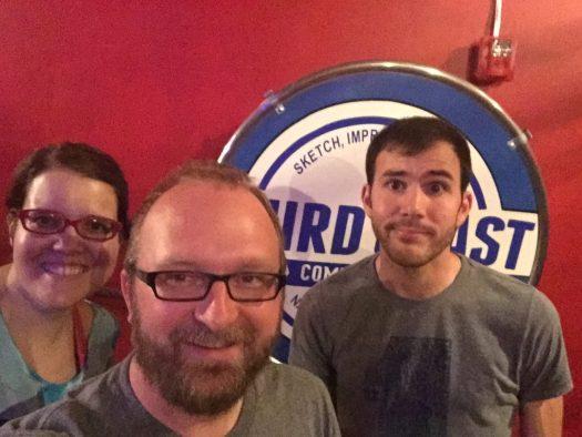 Mary Jay Berger, Chad Riden and Luke Watson at Third Coast Comedy Club