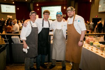 Guest Chefs Alex Harrell, Brian Landry, Aaron Burgau and Nathan Duensing