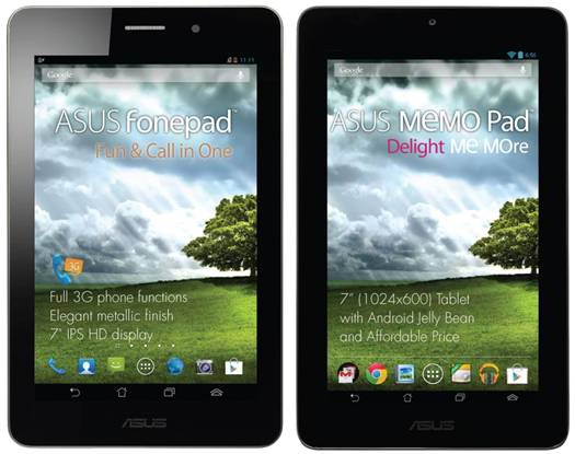 Asus launches giveaway for Fonepad and MeMO Pad : Be
