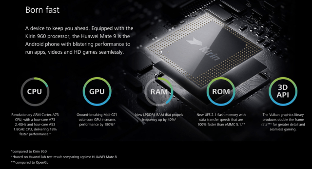 Mate 9 product page