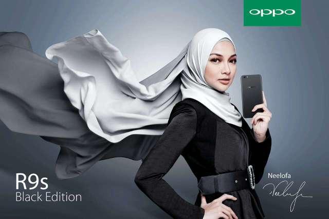 OPPO R9s Black Edition Neelofa
