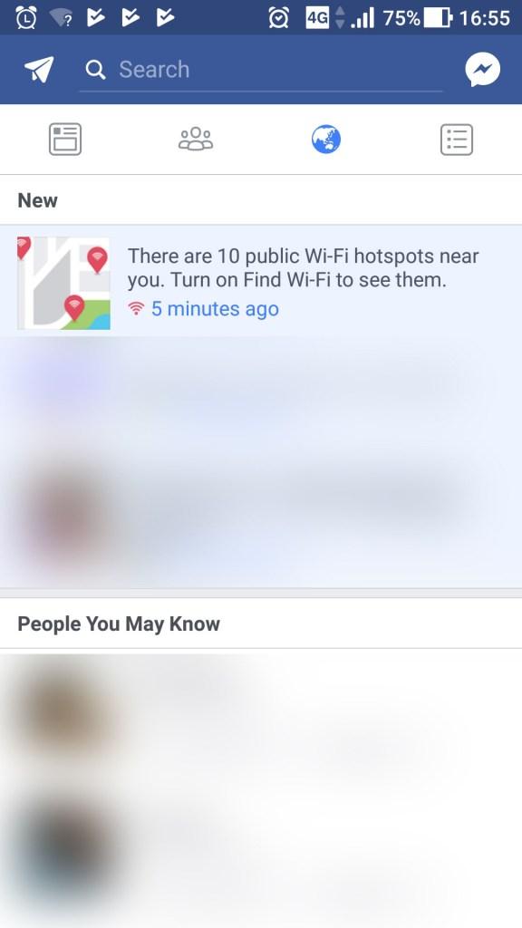 Facebook Find Free WiFi