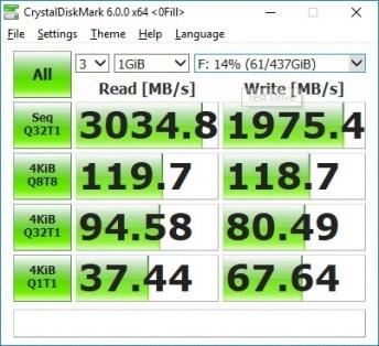 Plextor M9PeY CrystalDiskMark 0fill
