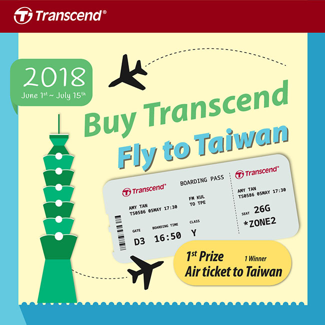Buy Transcend Fly To Taiwan