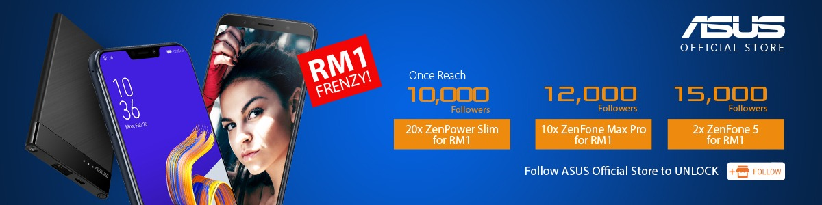 [UPDATED] Get A Smartphone For RM1 With ASUS x Lazada RM1 Frenzy