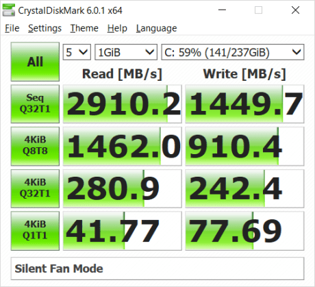 NVMe SSD in Silent mode