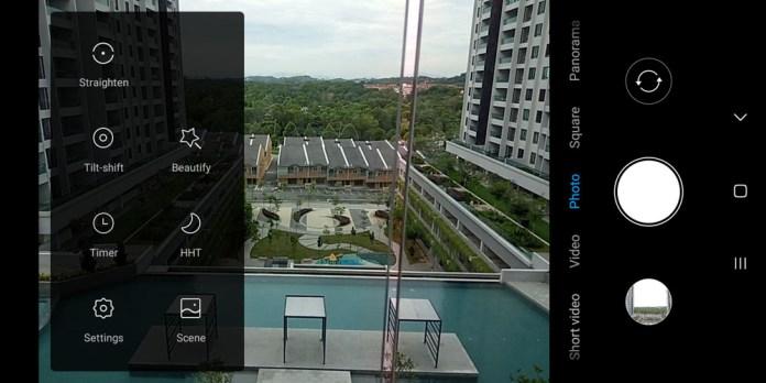 Xiaomi Redmi 6A camera UI