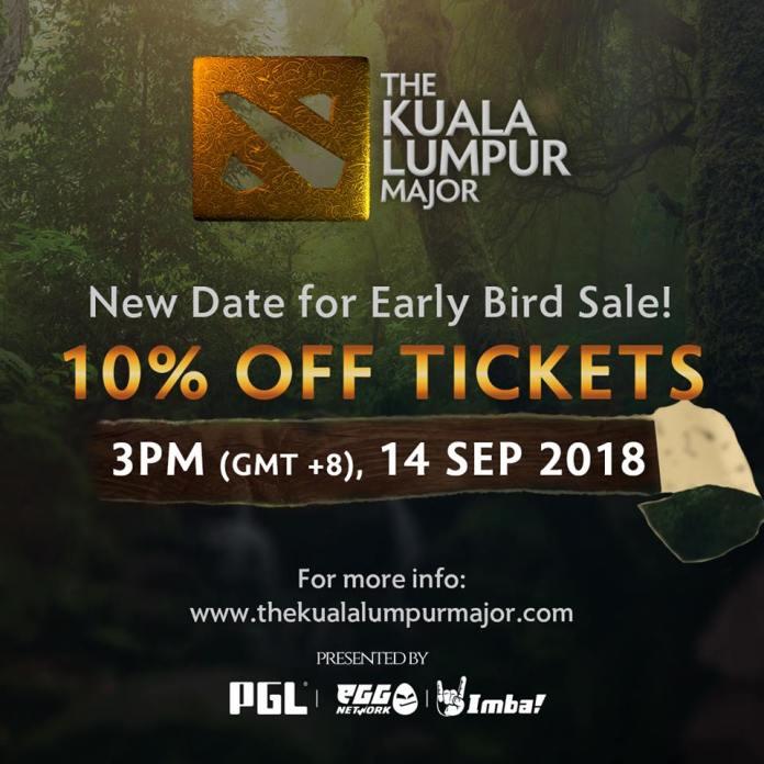 Dota 2 Kuala Lumpur Major Public Ticket Sale