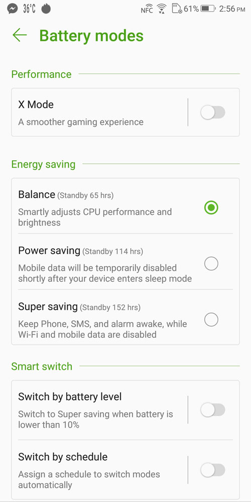 ASUS ROG Phone Battery Mode