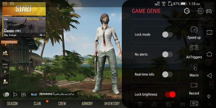 ASUS ROG Phone GameGenie how to