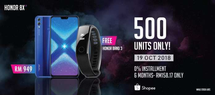 Amazing Deal Purchase Honor 8X; Get Honor Band 3 For Free