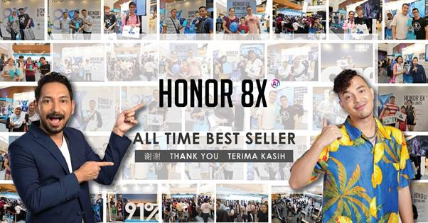 Honor 8X Is The All-Time Best-Seller Honor Smartphone In Malaysia