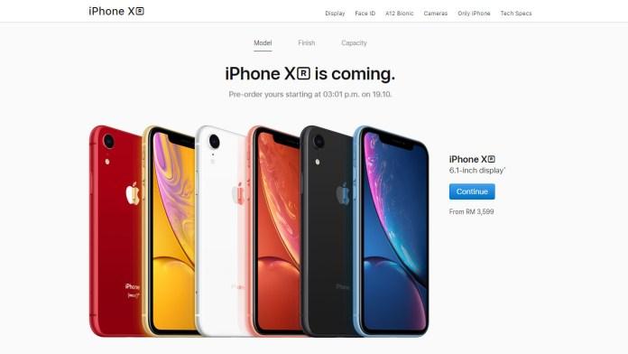 iPhone Xr pre-order price