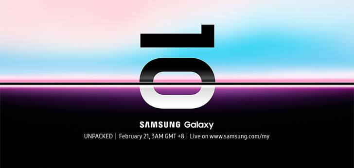 Samsung Galaxy S10 unpacked