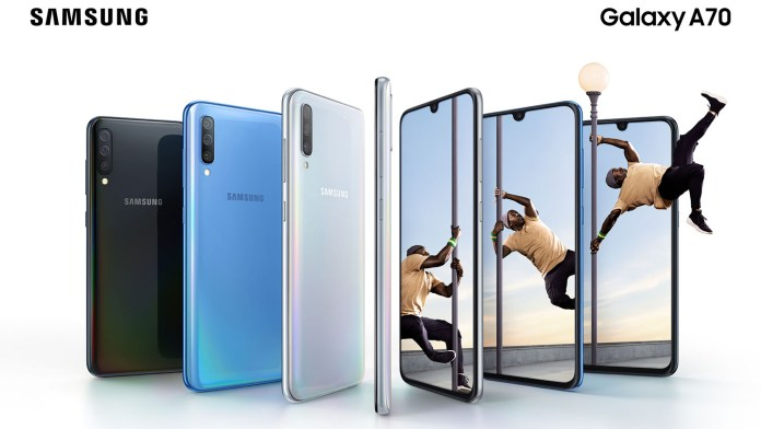 Samsung Galaxy A70 color combo
