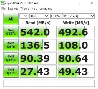 Phidisk PhantomKnight CrystalDiskMark benchmark