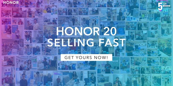 HONOR 20 sales record