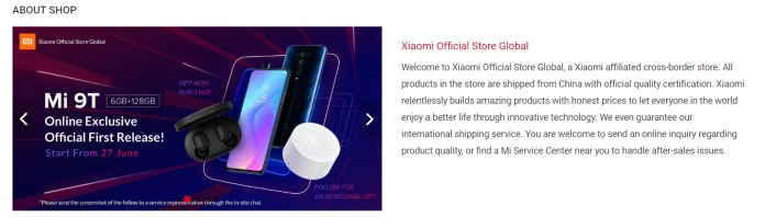 Xiaomi Official Store Global Shopee