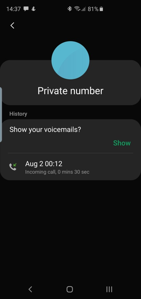 Fake money scammer private number