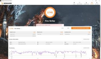 ASUS ZenBook Duo UX481F 3DMark FireStrike benchmark