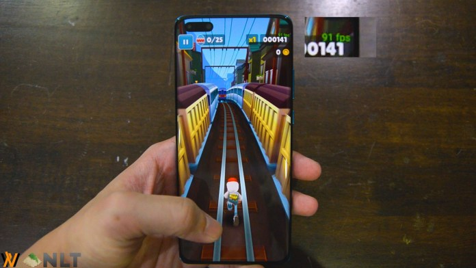 Huawei P40 Pro game frame rate test