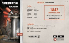 Huawei MateBook X Pro 2020 Superposition benchmark