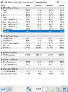 Huawei MateBook X Pro idle temperature