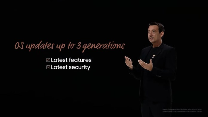 Samsung 3 generations of updates