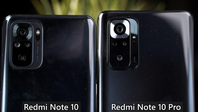 Redmi Note 10 and Redmi Note 10 Pro