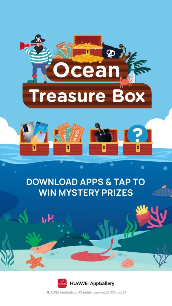 Download apps to win prizes
