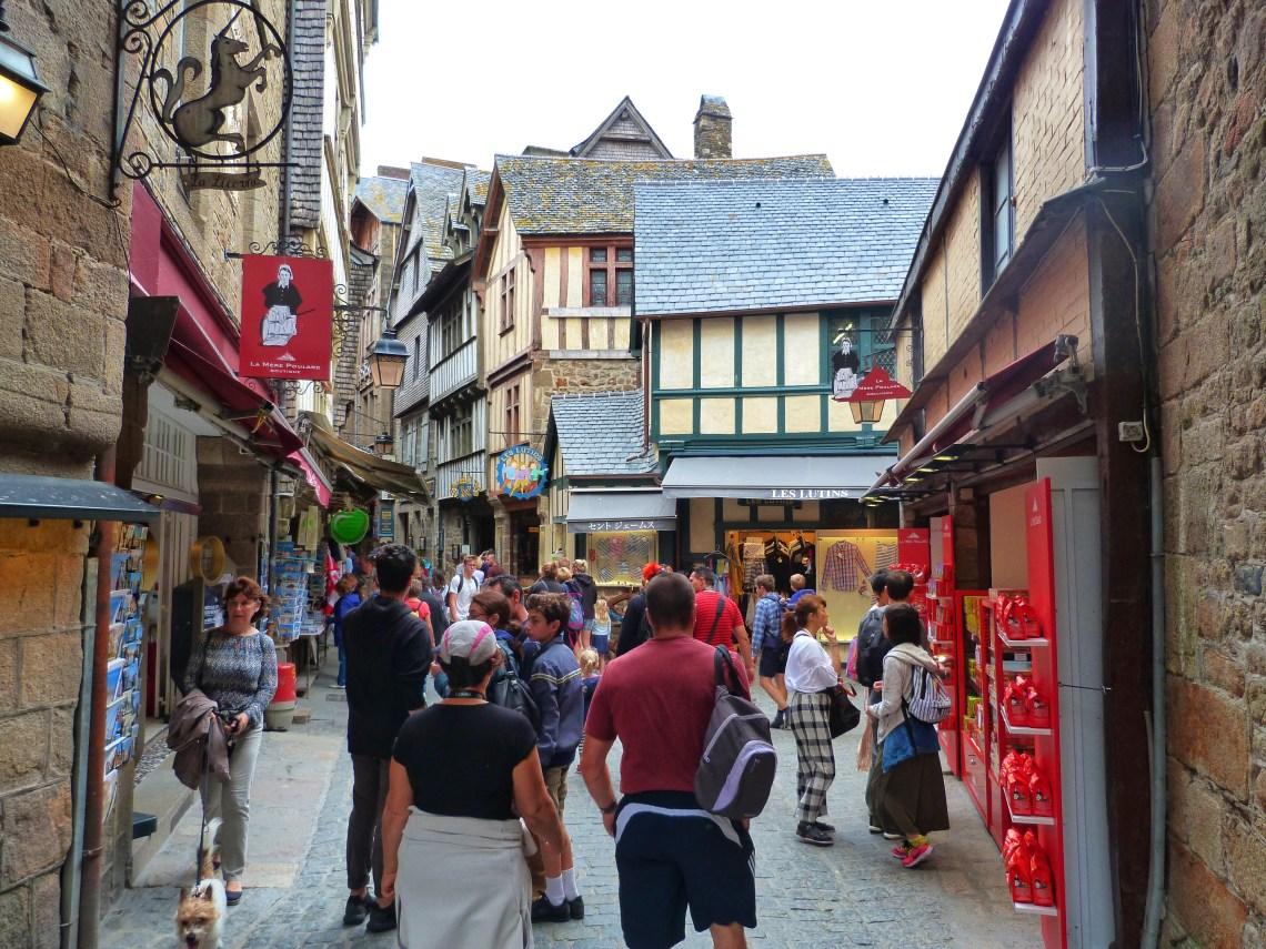 Inside Mont Saint Michel Normandy France